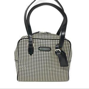 Ralph Lauren Vintage Houndstooth Satchel Handbag